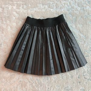 Parker Pleated Leather Skirt